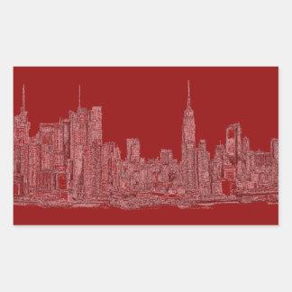 Gráfico del rojo de NYC Rectangular Altavoces