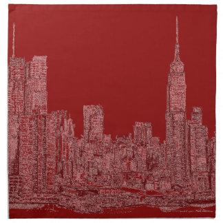 Gráfico del rojo de NYC Servilleta De Papel