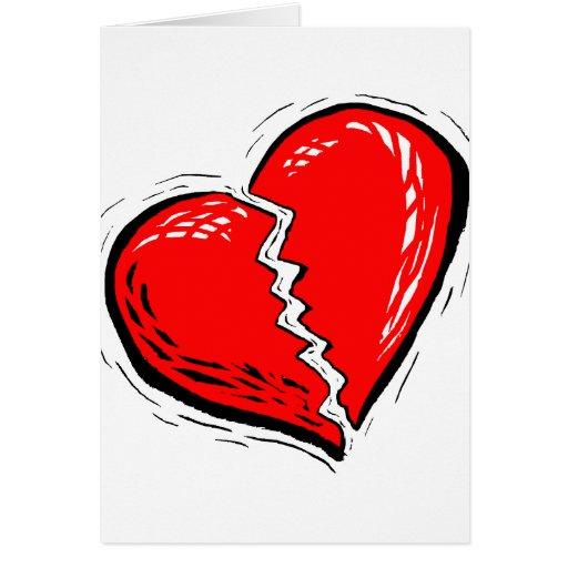 gráfico del rojo del corazón quebrado felicitaciones