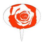 Gráfico del rosa rojo palillos de tarta