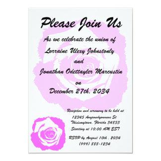 Gráfico del rosa rosado y blanco invitacion personal