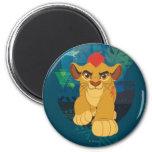 Gráfico del safari del guardia el | Kion del león Imán Redondo 5 Cm