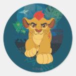 Gráfico del safari del guardia el | Kion del león Pegatina Redonda