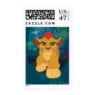 Gráfico del safari del guardia el | Kion del león Sello Postal