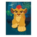 Gráfico del safari del guardia el | Kion del león Tarjetas Postales