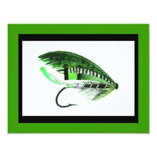 Gráfico del señuelo de la pesca con mosca invitacion personal