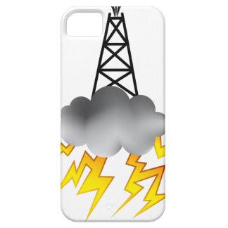 Gráfico del símbolo de la plataforma petrolera de funda para iPhone 5 barely there