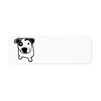 Gráfico del T-Hueso del pitbull Etiqueta De Remitente