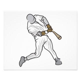 gráfico del talud del béisbol flyer personalizado