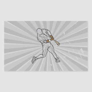 gráfico del talud del béisbol pegatina rectangular