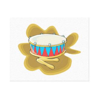 Gráfico del tambor y de la percusión de los mazos impresiones en lienzo estiradas