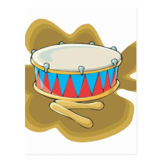 Gráfico del tambor y de la percusión de los mazos postal