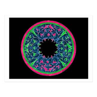 Gráfico del Victorian, esquema negro del rosa del Postal