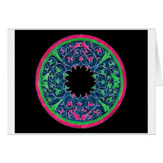 Gráfico del Victorian, esquema negro del rosa del  Tarjeta