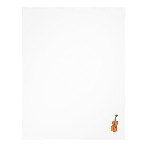 Gráfico del violoncelo, diseño de la música de Vio Plantillas De Membrete