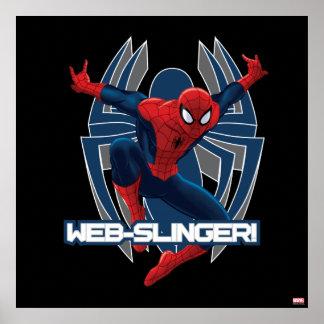 Gráfico del Web-Hondero de Spider-Man Póster