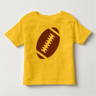 Gráfico delantero del fútbol del amarillo el | del playera de bebé