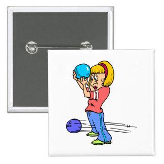 gráfico divertido del humor del dibujo animado de  pin cuadrada 5 cm