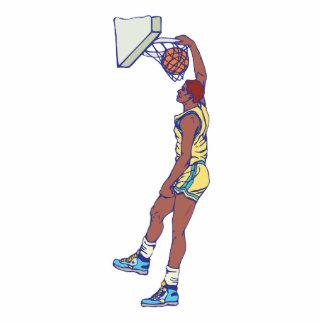gráfico dunking del jugador de básquet esculturas fotográficas