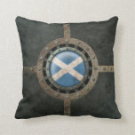 Gráfico escocés de acero industrial del disco de l almohada