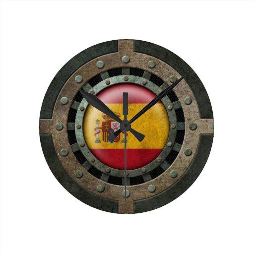 Gráfico español de acero industrial del disco de l reloj de pared
