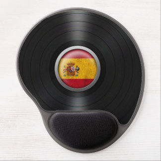 Gráfico español del álbum de disco de vinilo de la alfombrilla de ratón con gel