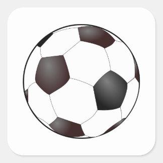 Gráfico europeo del fútbol del balón de fútbol de pegatina cuadradas