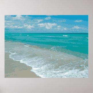 Gráfico extremo de la opinión de la playa de la re impresiones