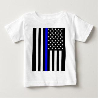 Gráfico fino americano de Blue Line Playera De Bebé