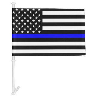 Gráfico fino de Blue Line en una bandera de los