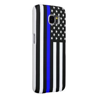 Gráfico fino de Blue Line en una bandera de los Funda Samsung Galaxy S6