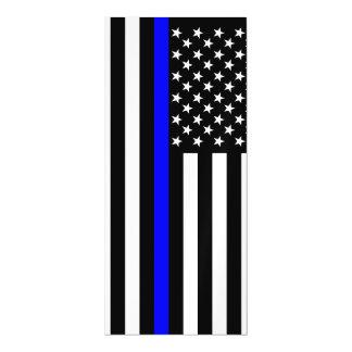 Gráfico fino de Blue Line en una bandera de los Invitaciones Magnéticas
