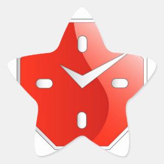 Gráfico formado octágono del reloj de pared pegatina en forma de estrella