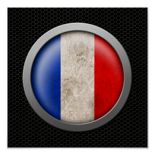Gráfico francés del disco de la bandera de la mall impresiones