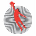 gráfico fresco del espiral de la clavada del balon esculturas fotograficas