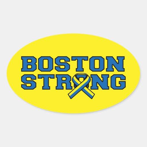Gráfico FUERTE de la cinta de BOSTON Pegatina Ovalada
