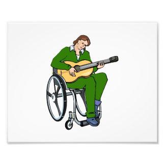 gráfico green.png de la silla de ruedas del guitar impresion fotografica