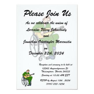 gráfico green.png de la silla de ruedas del invitación 12,7 x 17,8 cm