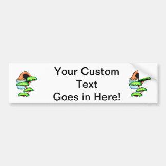 gráfico green.png del bonsaii de la cascada pegatina para auto