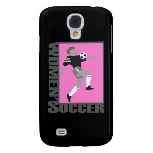 gráfico gris y rosado del fútbol para mujer del lo