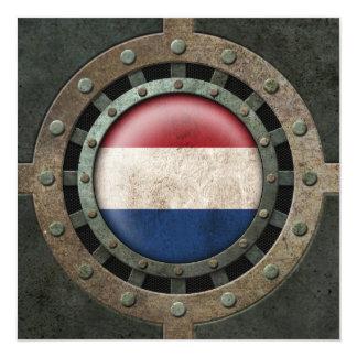 """Gráfico holandés de acero industrial del disco de invitación 5.25"""" x 5.25"""""""