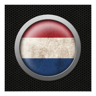 """Gráfico holandés del disco de la bandera de la invitación 5.25"""" x 5.25"""""""