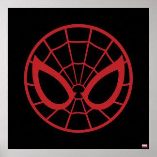 Gráfico icónico de Spider-Man Póster