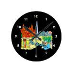 gráfico image.png de las vacaciones de Amsterdam Reloj De Pared