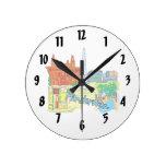 gráfico image.png de las vacaciones de Amsterdam Relojes De Pared