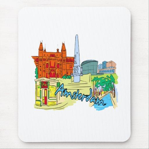 gráfico image.png de las vacaciones de Amsterdam Alfombrilla De Ratones