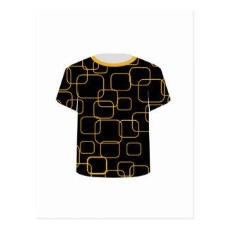 Gráfico imprimible de la camiseta de la plantilla postales