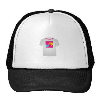 Gráfico imprimible del arte pop de la camiseta gorras