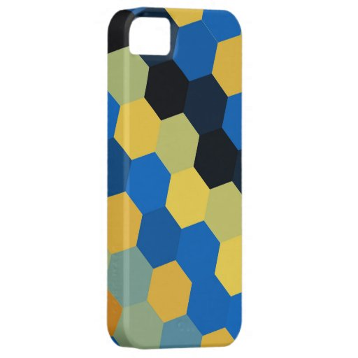 Gráfico inconsútil 2 de los hexágonos coloridos funda para iPhone SE/5/5s