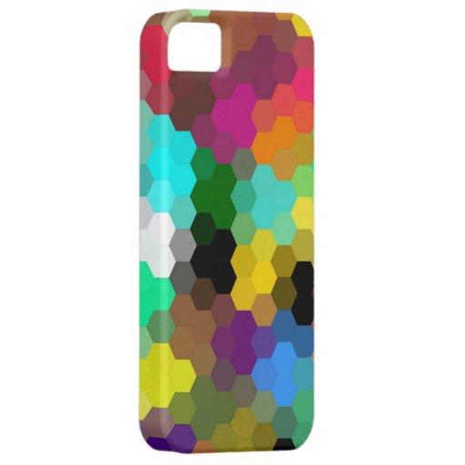 Gráfico inconsútil coloreado multi de los hexágono iPhone 5 Case-Mate coberturas